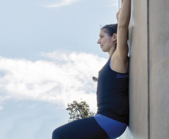 Hansa Yoga, Katharina Rodewald, Forrest Yoga ® Chair on the wall