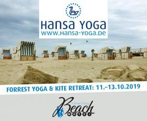 Kite Kitesurfen Forrest Yogareise Yogawochenende Beach Motel SPO St. Peter-Ording Nordsee Oktober 2019
