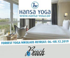 Forrest Yogareise Yogawochenende Beach Motel SPO St. Peter-Ording Nordsee Nikolaus Dezember 2019
