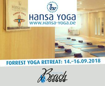 Forrest Yoga Retreat Yogareise Beach Motel St. Peter-Ording Nordsee Yogaretreat Retreat September 2018