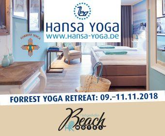 Forrest Yoga Retreat Yogareise Beach Motel Heiligenhafen Ostsee Yogaretreat Retreat November 2018