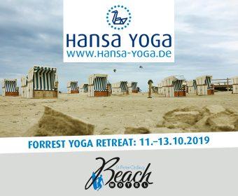 Forrest Yoga Yogareise Yogawochenende Beach Motel SPO St. Peter-Ording Nordsee Oktober 2019 Entspannter Nacken