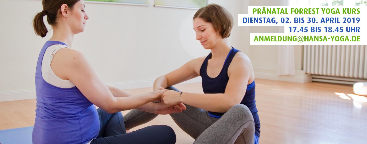 Hansa Yoga Pränatal Forrest Yoga für Schwangere Hamburg Winterhude April 2019