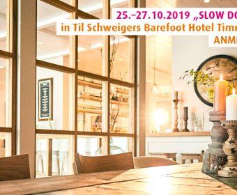 "25.–27.10.19: ""Slow down"" Forrest Yogareise in Til Schweigers Barefoot Hotel Timmendorfer Strand, Ostsee"