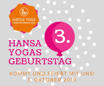 3. Hansa Yoga Geburtstag am 3. Oktober 2019
